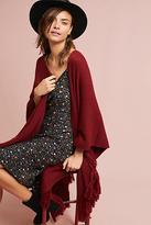 Anthropologie Layered Fringe Knit Kimono