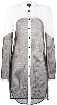 Just Cavalli Mesh-Panel Shirt