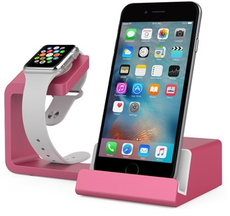 Posh Tech Dual 2-in-1 Charging Stand for Apple Watch and Smartphones - Pink