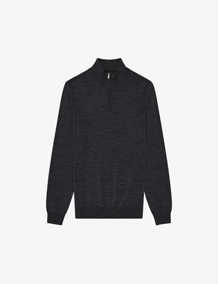Reiss Blackhall turtleneck merino wool jumper