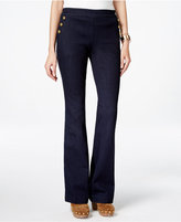 INC International Concepts Flared Button-Trim Jeans, Only at Macy's