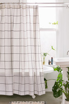 Urban Outfitters Distressed Check Shower Curtain