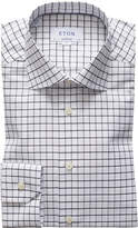 Eton Men's Windowpane Check Dress Shirt