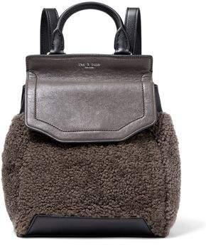 Rag & Bone Pilot Ii Small Leather And Shearling Backpack