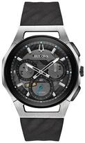 Bulova Grey Chronograph Curv Strap Watch 98a161