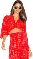 Faithfull The Brand Bianca Top in Red. - size L (also in M,S)