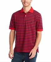 Nautica Men's Classic Fit 100% Cotton Soft Short Sleeve Stripe Polo Shirt