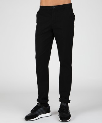 Atm Stretch Cotton Garment Wash Slim Pants - Black