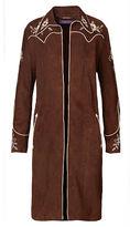 Ralph Lauren Houston Embroidered Suede Coat
