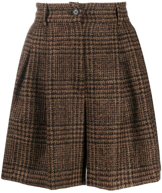 Dolce & Gabbana Checked Tweed Shorts