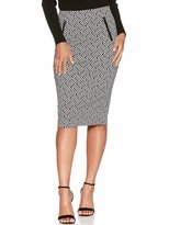 M&Co Geometric jacquard pencil skirt