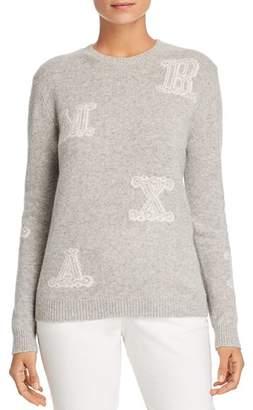 Max Mara Vetro Logo-Letter Cashmere Sweater