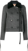 No.21 checked double breasted jacket