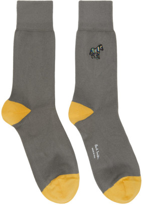 Paul Smith Grey Zebra Socks