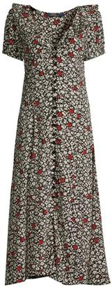 Ralph Lauren Poppy Field Short-Sleeve Dress