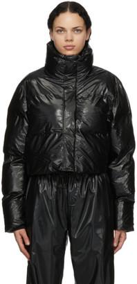 Rains Black Boxy Cropped Jacket