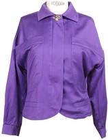 Versus Purple Cotton Jacket for Women Vintage