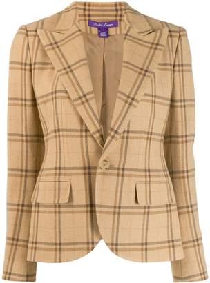 Ralph Lauren slim-fit plaid blazer