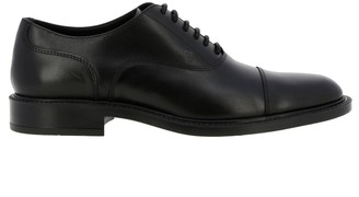 Tod's Brogues In Smooth Leather With Rubber Sole