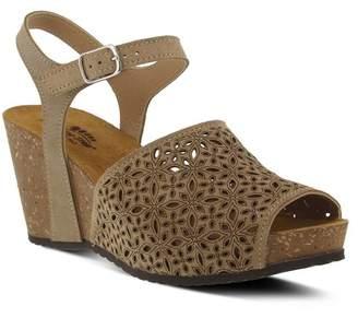 Spring Step Lauralyn Suede Wedge Sandal