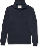 Folk - Elbow-patch Piqué Half-zip Sweatshirt