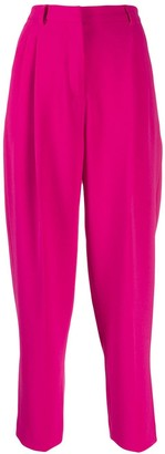 Alberto Biani High Waist Crop Trousers