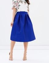Oasis Satin Twill Midi Skirt