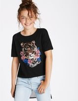 Marks and Spencer Chiffon Back Sequin Top (3-14 Years)