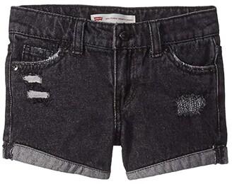 Levi's(r) Kids Girlfriend Fit Shorty Shorts (Little Kids) (Washed Black) Girl's Shorts