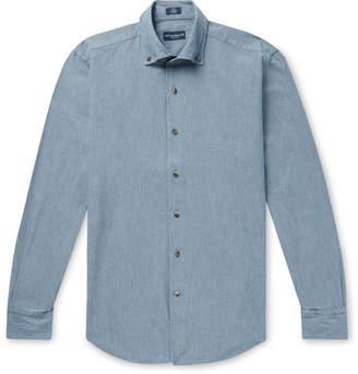 Peter Millar Collection Button-Down Collar Cotton-Chambray Shirt
