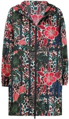 Moncler Floral Print Raincoat