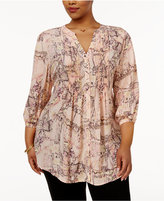 Melissa McCarthy Trendy Plus Size Pintucked Blouse
