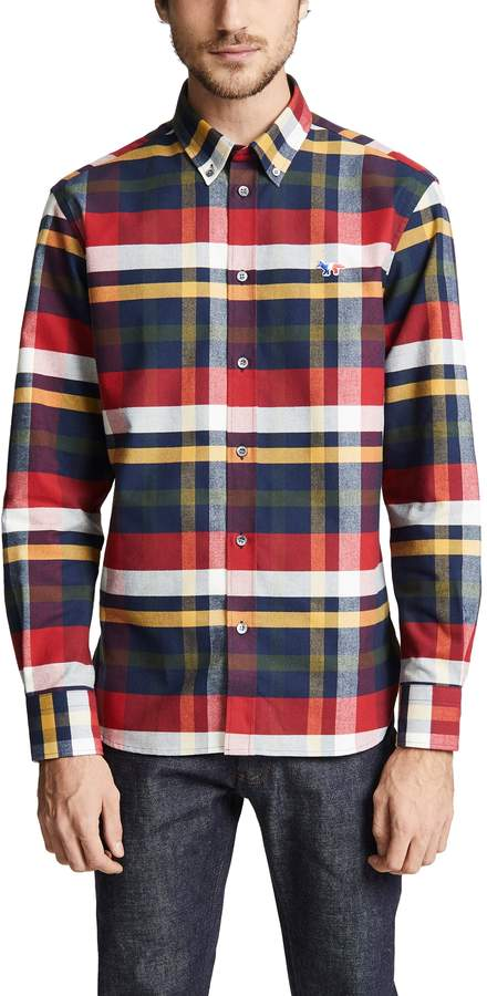 MAISON KITSUNÉ Tartan Classic Button Down Shirt
