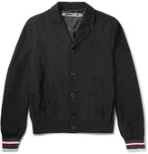 McQ by Alexander McQueen Slim-Fit Stripe-Trimmed Satin-Shell Blouson Jacket