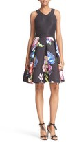 Ted Baker Women's 'Illusia' Colorblock Fit & Flare Dress