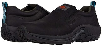 Merrell Work Jungle Moc Leather Slip Resistant (Black) Women's Shoes