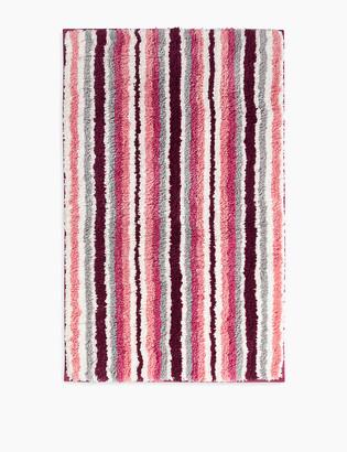 Marks and Spencer Super Soft Quick Dry Stripe Bath Mat
