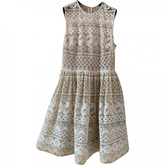 Elie Saab Beige Lace Dress for Women