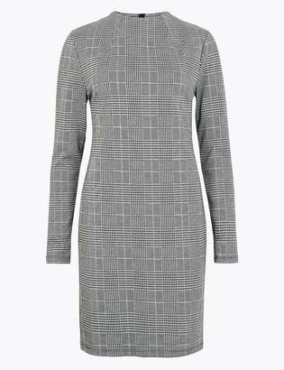 M&S CollectionMarks and Spencer Jacquard Checked Shift Dress