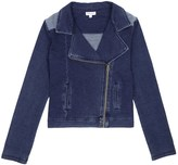 Splendid Girl Indigo Knit Jacket