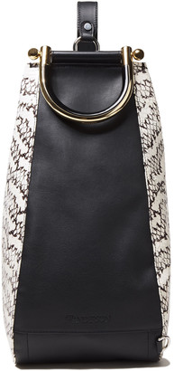 J.W.Anderson Wedge Leather And Elaphe Shoulder Bag