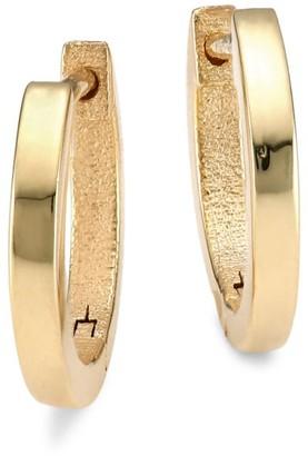 Jennifer Zeuner Jewelry Grace 14K Goldplated Sterling Silver Huggie Hoop Earrings