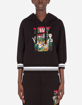 Dolce & Gabbana Jersey Hoodie With Family Patch