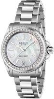 Gucci Women's Swiss Dive Diamond (1/2 ct. t.w.) Stainless Steel Bracelet Watch 32mm YA136406