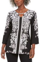 JM Collection Embellished Keyhole Tunic Top, Created For Macy's