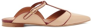 Malone Souliers Imogen T-bar Strap Point-toe Leather Mules - Nude