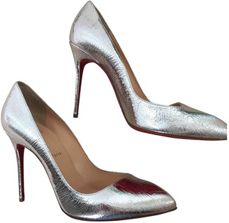 Christian Louboutin Corneille Silver Leather Heels