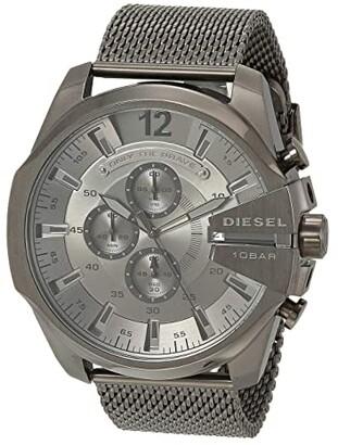 Diesel Mega Chief Chronograph Stainless Steel Watch (Gunmetal) Watches
