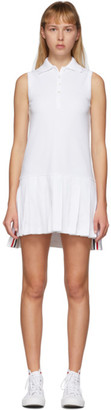 Thom Browne White Sleeveless Tennis Dress