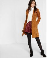 Express tan genuine suede trench coat